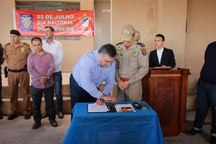 Corpo De Bombeiros De APUCARANA-PR, Inaugura Obras De Ampliação E Abre Licitação Para Segunda Parte Do Projeto.