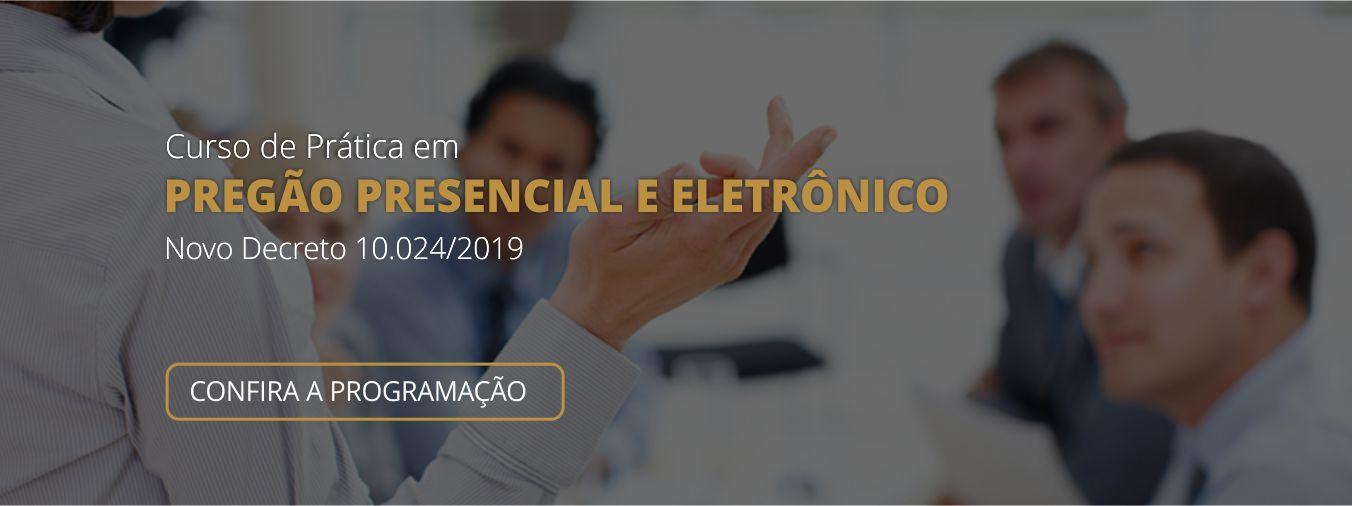 Banner Curso Pregao Presencial E Eletronico